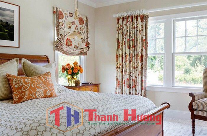Mẫu rèm cửa không gian phòng ngủ giàu sức sống và rực rỡ