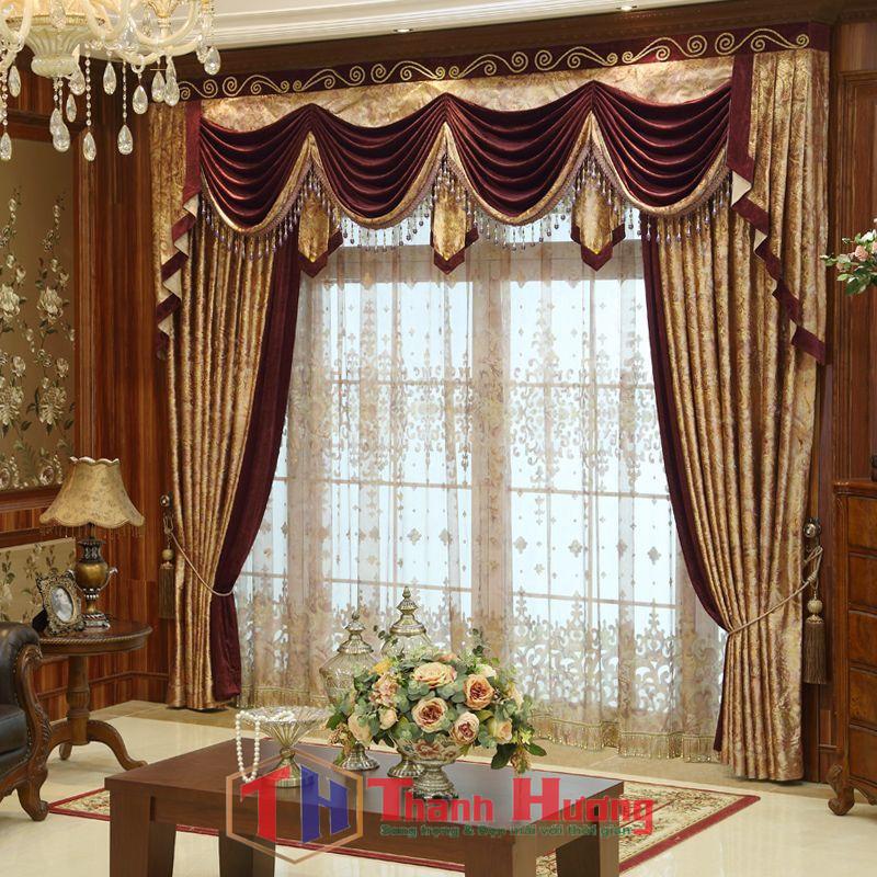 Mẫu rèm cửa phong khách tân cổ điển sang trọng