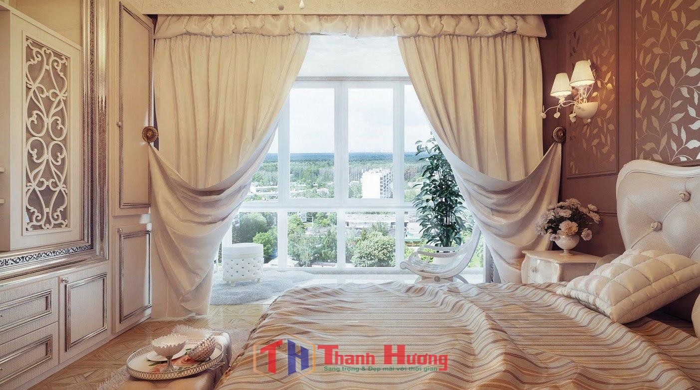 Mẫu rèm cửa sổ đẹp theo kiểu hoàng gia