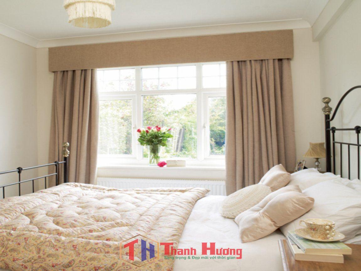 Mẫu rèm cửa sổ phòng ngủ giá rẻ, đẹp, không cầu kỳ