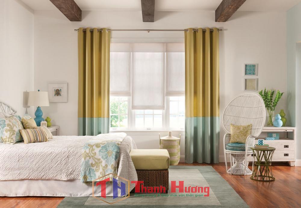 Mẫu rèm phòng ngủ cho những ai thích sự đơn giản và nhẹ nhàng