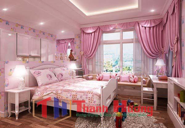 Rèm cửa đẹp phòng ngủ dành cho những ai yêu thích màu hồng